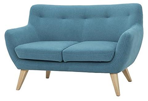 Canape Fixe 2 Places - Scandinavian Design, Oscar canapé, 2 places, tissu