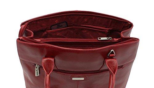 Visconti collezione Vintage italiano ADRIANA Leather afferrare / spalla borsa ITL77 rosso Red