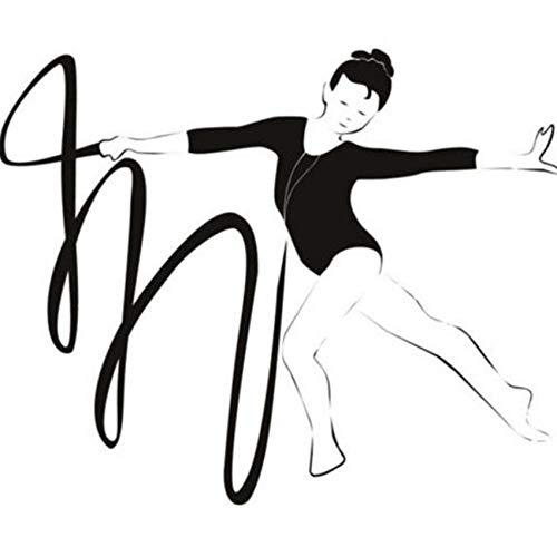 Qvzxn Gymnast And Ribbon Gymnastics Dancing Wandaufkleber Gym Sports Decor Art Decals 43X50Cm