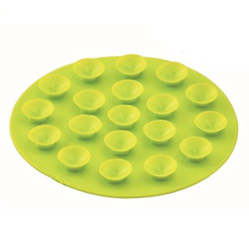 n Baby Kinder Saugnapf Matte Doppelseitig Sucker Anti-Rutsch, Teller, Schale Tisch-Sets (Grün) 1Stück ()