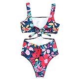 195b594dae66 Mambain Monokini Costumi da Bagno Donna Intero Fiori Bikini Interi Donna  Brasiliana Costume Donna Taglie Forti
