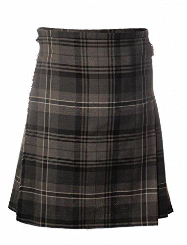 Heritage of Scotland Scottish Highland Poly Viscose Tartan Deluxe Boys Kilt 4 Tartans Available New (9-10 Years, Hamilton Grey) -