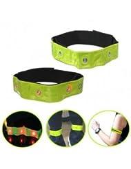 Bheema une paire LED saftey clignotante visible de jogging bande brassard réfléchissant