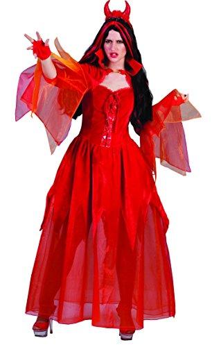 Pierro´s Kostüm Teufelin Skylla Halloween Damenkostüm Frauen Teufelkostüm Größe 36 38 40 42 44 46 48 50 für Karneval, Fasching, Motto, Fete, Feier und Party / Halloween
