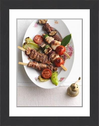 framed-print-of-ramadan-skewers-with-lean-meats-tomatoes-courgettes-and-peppers