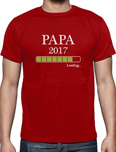 Papa Loading 2017 - Geschenk T-Shirt für werdende Väter T-Shirt Rot