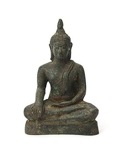 Thai Bouddha assis Statue en métal bronze, environ 11cm de