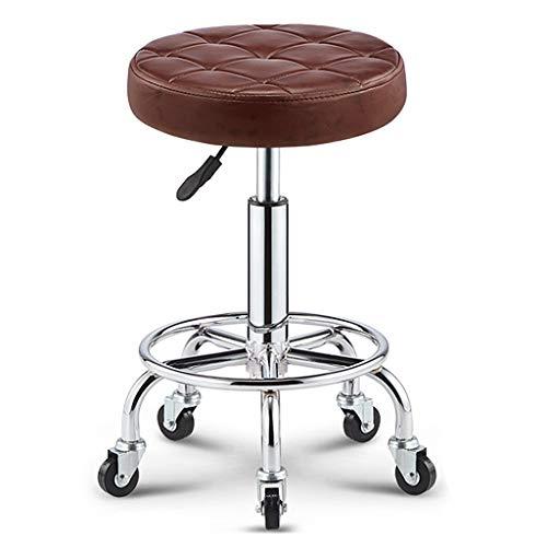 Dreh- & Arbeitshocker Stühle Büromöbel Rotierende Stuhllehne Stuhl Barhocker tragbar leicht zu reinigen Drehstuhl sicher und sicher Verstellbarer Barstuhl 360 ° drehbarer Schönheit Rollstuhl