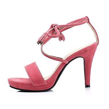 LvYuan Da donna Sandali Comoda Cinturino alla caviglia PU (Poliuretano) Estate Casual Formale Comoda Cinturino alla caviglia A stilettoNero Peach