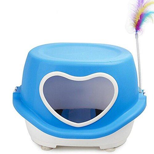 Maison en forme de coeur de chat avec des jouets Cat Nest, trois couleurs en option ( Couleur : B )