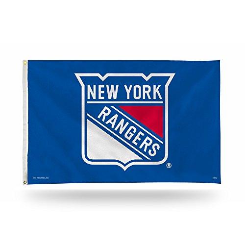 Rico NHL Banner-Flagge, einseitig, 90 x 152 cm, mit Ösen, New York Rangers
