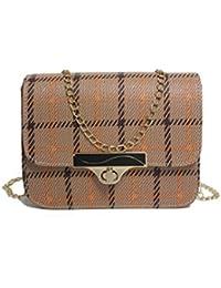 Bolso para mujer con un hombro individual, pequeño y cuadrado, en diagonal, con