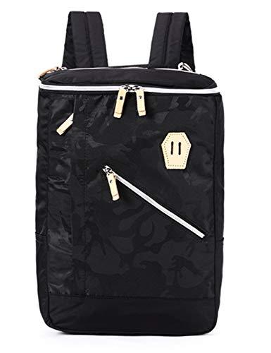 LYARA Studententasche wasserdichte Herrenrucksack/kreative Laptoptasche Reisetasche für Männer-black-2-black-2