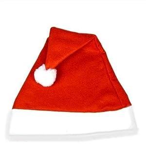 Gifts 4 All Occasions Limited SHATCHI-1406 - Gorro de fieltro (100 unidades), diseño de Papá Noel, color rojo y blanco