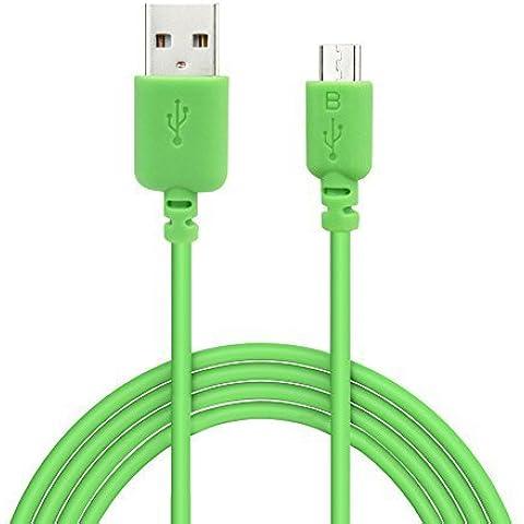 EZOPower Cable de Micro USB con 3 metros, Cable de Carga y Datos para Smartphone de Adroid, Samsung Galaxy, Motorola Moto, LG, Huawei, Xiaomi, Sony y más, Color