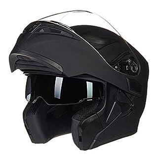 Männer Winddicht Half Face Motorrad Helm Doppellinse Flip Up Anti-Fog Motorradhelme Mountain Road Motocross Helm Moto Schutzkappe