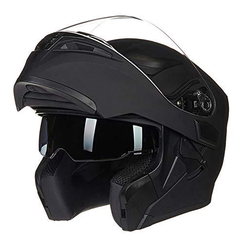 Mann Kostüm Mountain - Männer Winddicht Half Face Motorrad Helm Doppellinse Flip Up Anti-Fog Motorradhelme Mountain Road Motocross Helm Moto Schutzkappe