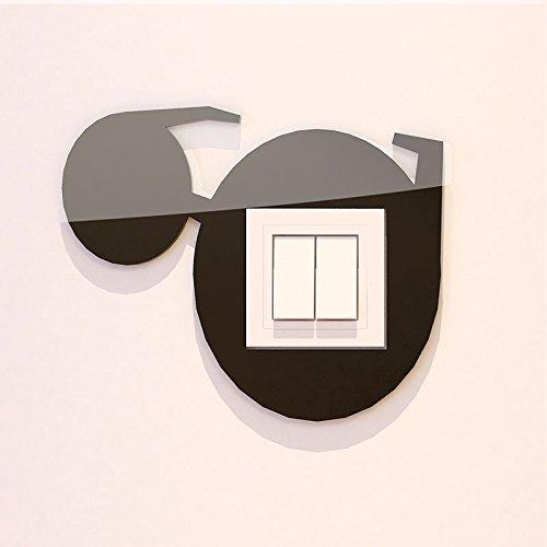 Persönlichkeit Kreativer Schalter Aufkleber 3D Stereo Acryl Schalter Abdeckung selbstklebendes Produkt Brille 2