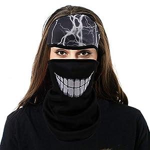 Hootracker Winddicht Face Shields Ski Mask Sturmmaske mit Full Cover Ohr Wärmer Winter Fleece Stirnband für Radfahren Reiten Klettern Snowboard 2 Stück
