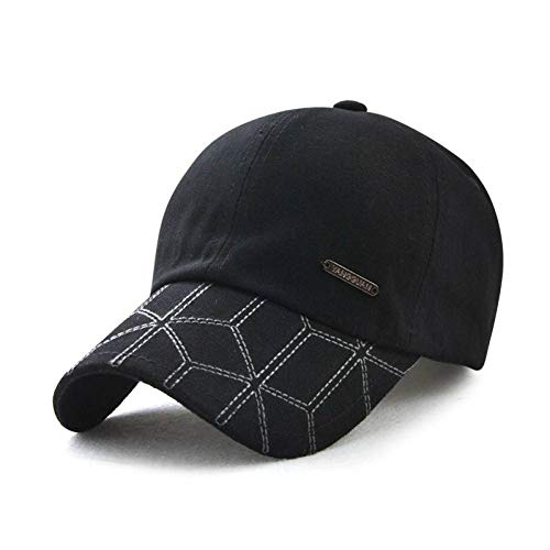 ode Hysteresenkappen Männer Baseballmütze Baumwolle ausgestattet Hut Outdoor Visier Marke Männer Hüte Casquette Papa Hut,d4 ()