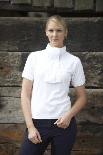 Toggi Miramar Chemise de concours d'équitation à manches courtes pour femme Blanc - blanc
