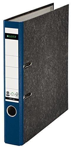 Leitz 10505035 Qualitäts-Ordner (Wolkenmarmor-Papier, A4, 5,2 cm Rückenbreite) blau