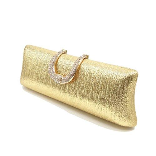 Borsa Borsa Di Sera Della Mano Classico Della Moda Femminile Gold