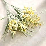 HUAYIFANG 1 Stück 1 Zweig Pu Pflanzen Tischplatte Blume Künstliche Blumen, Gelb