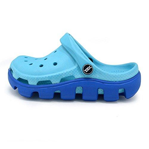 Polliwoo Sandal Flops Chaussures pour Garçons et filles Pantoufles Plage Mode Été Des Plat Sandales Chaussons Bleu clair