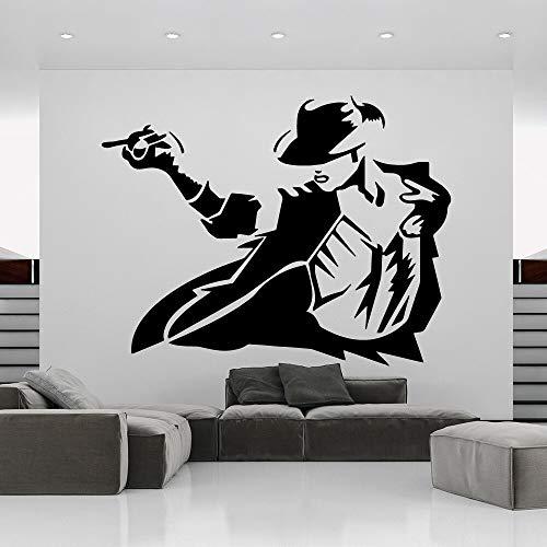 Kreative Michael Jackson Wohnkultur Moderne Acryl Dekoration PVC Wandtattoos Dekoration Wall58 * 75 cm