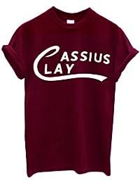 LaMAGLIERIA Camiseta Hombre Cassius Clay - Muhammad Ali Camiseta 100% Algodon