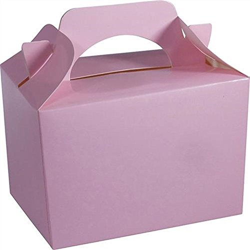 10 x BABY PINK Kid Childrens Plain Activity Food Loot Favour Birthday Party Bag Gift Box Wedding Toy Christmas by Concept4u -