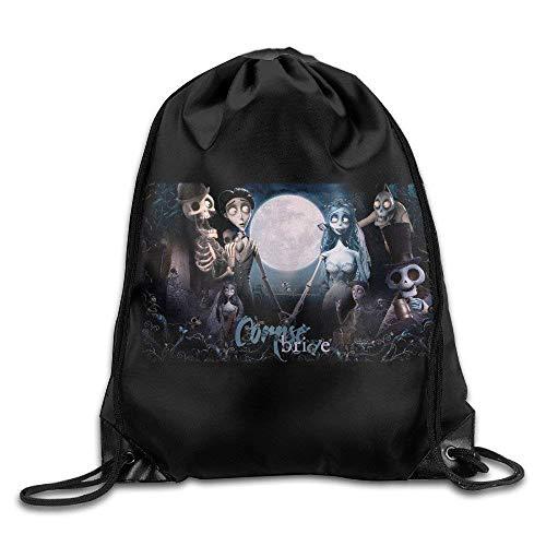 Dhrenvn Tim Burton's Corpse Bride Halloween Portable Shoulder Bags Drawstring Backpack/Rucksack