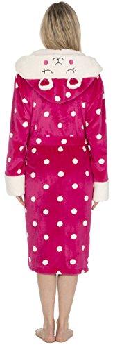KATE MORGAN Damen Morgenmantel Pink Sheep