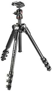 Manfrotto MKBFRA4-BH Serie Befree Kit con Testa a Sfera per Fotocamera, 4 Sezioni in Alluminio, con Sacca di Trasporto, Nero
