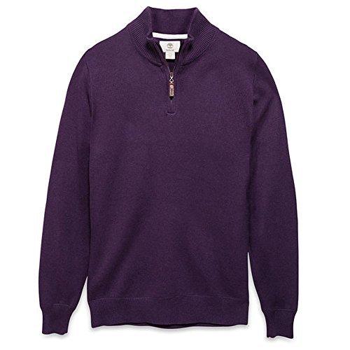 Timberland Herren Pullover WILLIAMS RIVER 1/2 Zip Gr. M Purple