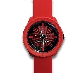 Wize &Ope CR - 1, Crunch-Armbanduhr Analog Quarz analog Silikon Rot