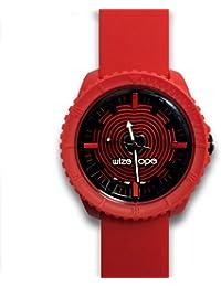 Wize & Ope  0 - Reloj de cuarzo unisex, con correa de silicona, color rojo
