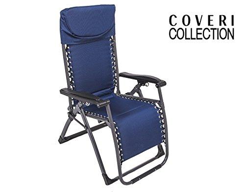 Sedia A Sdraio Tessuto : Enrico coveri sedia sdraio blu reclinabile modello confort