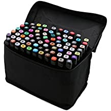 40/60/80/168 Colores Art Marker Set, doble punta juego de rotuladores para dibujo con l¨¢piz bolsa para artista arte 40-Color