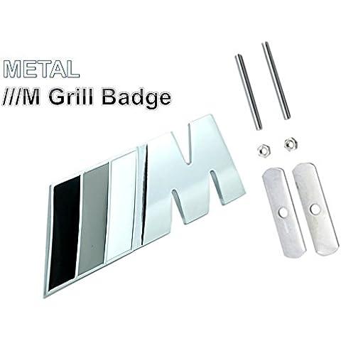 BMW///M in metallo 3d griglia Logo Grigio M-Tec di Sport