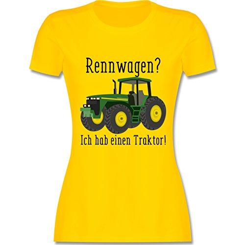 Landwirt - Rennwagen? Traktor! - Damen T-Shirt Rundhals Gelb