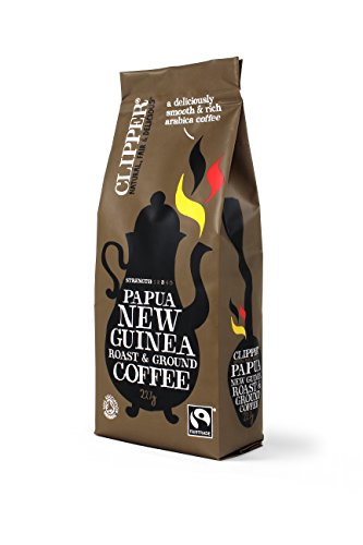 Clipper Fairtrade Organic Roast and Ground Papua New Guinea 227 g (Pack of 4) 41tZhJM0wKL