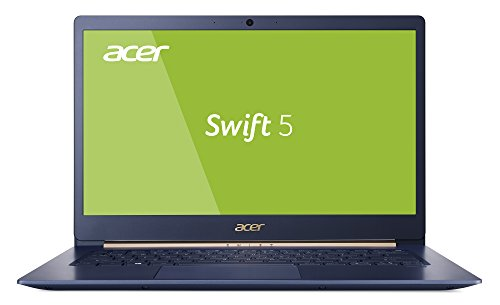 Acer Swift 5 SF514-52T-59HY 35,56 cm (14 Zoll Full-HD IPS Multi-Touch) Ultrabook (Intel Core i7-8550U, 8GB RAM, 256GB PCIe SSD, Intel UHD, Win 10) blau