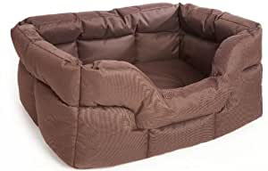 P & L Superior Pet Beds Heavy Duty Rectangular Waterproof Softee Bed, Large, 75 x 60 x 27 cm, Brown