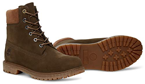 Timberland Womens Womens 6 Inch Premium Boots in Olive - UK 4 5