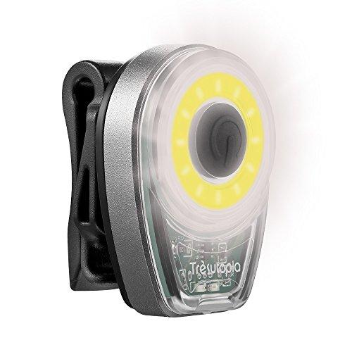 Trèsutopia Twinkler aufladbares Outdoor LED-Licht zum Joggen, Spazieren, Radfahren, Gassi gehen in der Dunkelheit, mit elastischem Befestigungsriemen und USB-Ladekabel (Weiß)