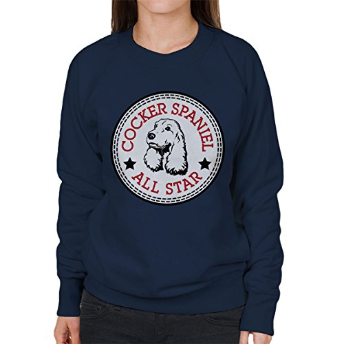 All-star-boxer (Cocker Spaniel All Star Converse Logo Women's Sweatshirt)
