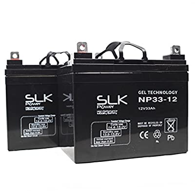 Pair of Gel AGM Mobility Scooter Batteries - 12v x 33ah, 36ah, 40ah, 50ah, 55ah, 75ah