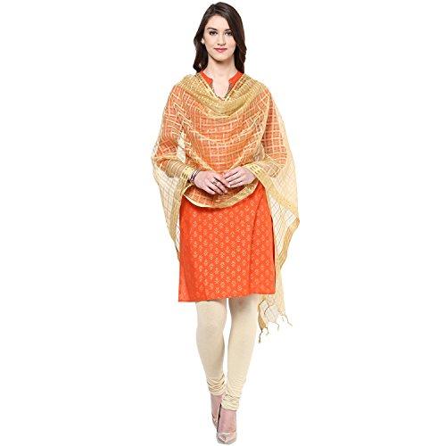 Solid Silk Woven Dupatta